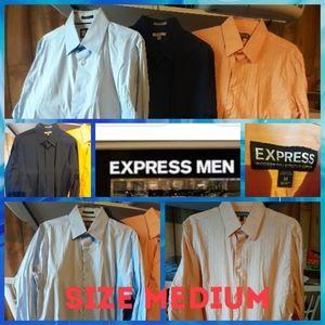 3 Mens express dress shirts